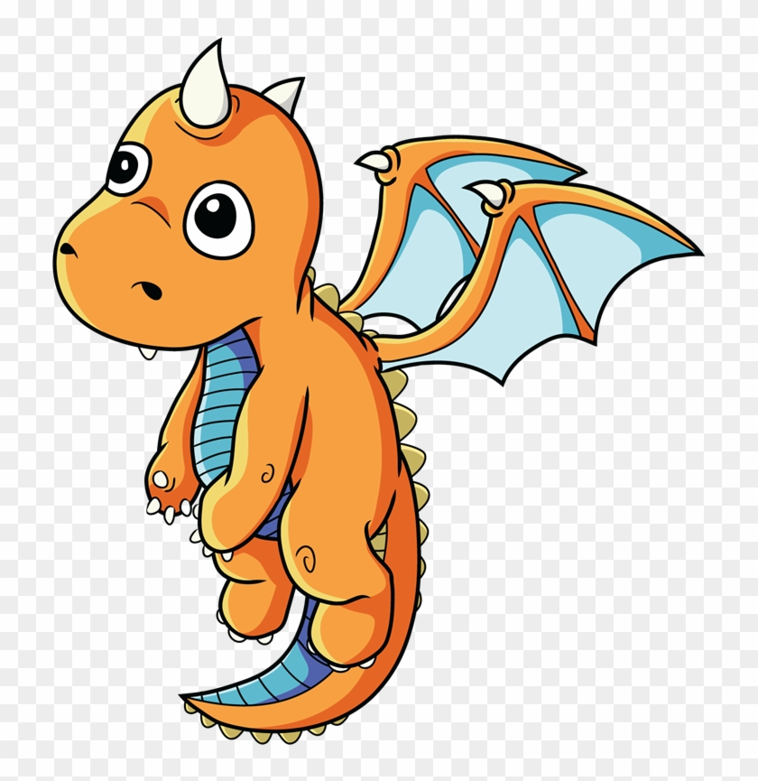 Free Cartoon Baby Dragon Clip Art - Baby Dragon Clipart #2383