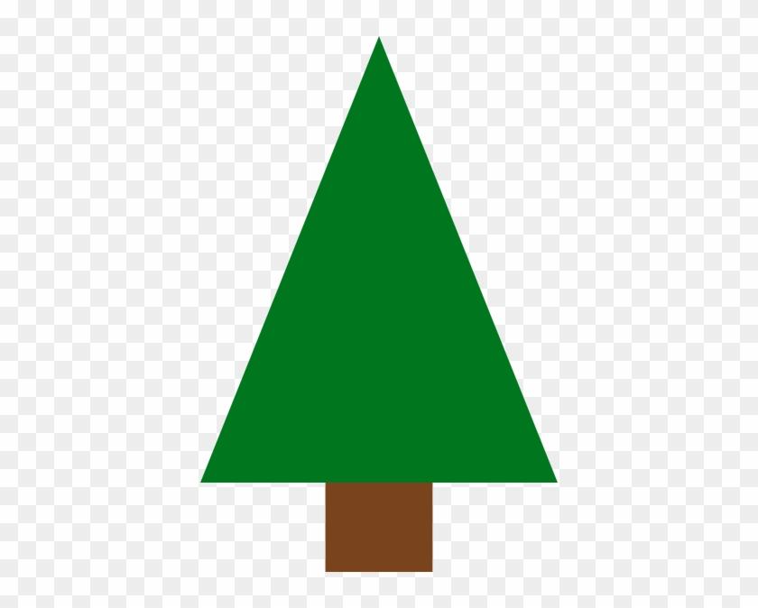 Triangle Christmas Tree Clipart #2401