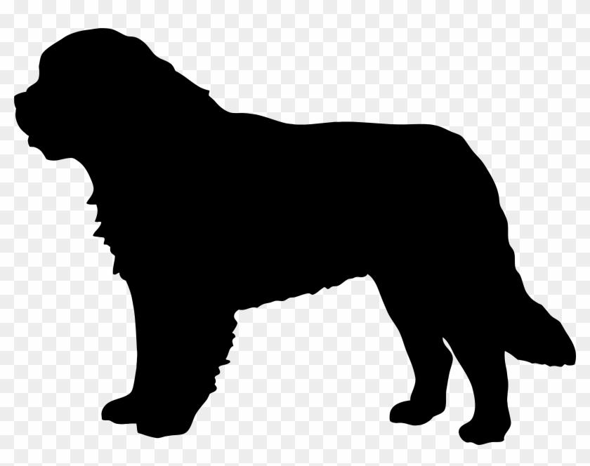 Saint Bernard Dog Silhouette Png Clip Art Imageu200b - Saint Bernard Dog Silhouette #2408