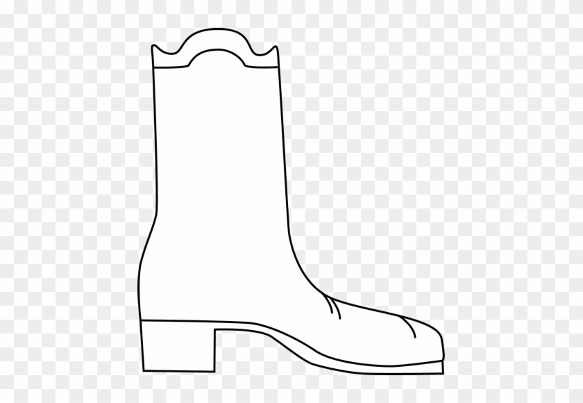 Black And White Cowboy Boot - Black And White Boot #2396