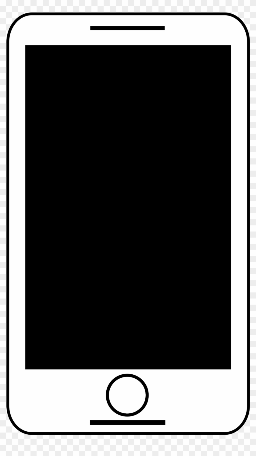 Animated Smart Phone Black And White - Clip Art Smartphone #2436
