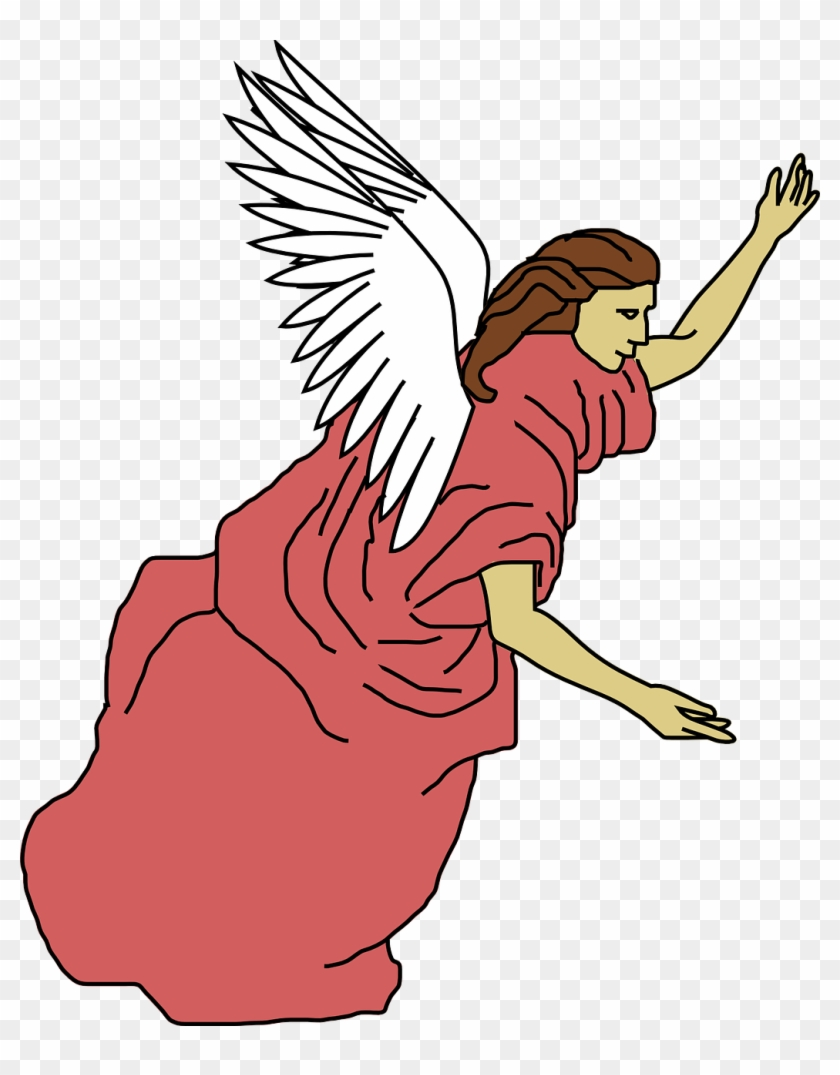 Angel Free To Use Clip Art - Angels Flying Clipart #2475