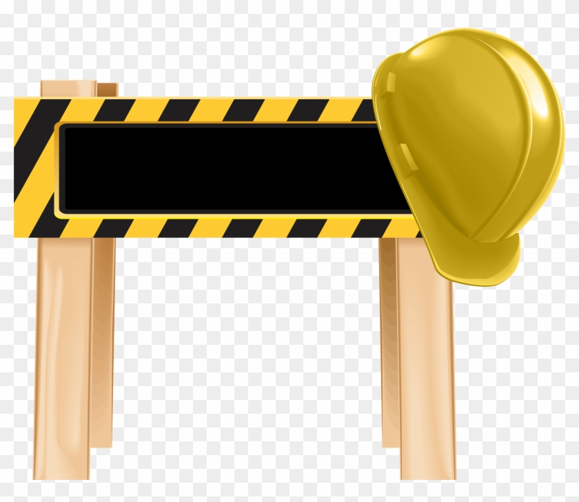 Under Construction Barrier Png Clip Art - Construction Clipart Png #2483
