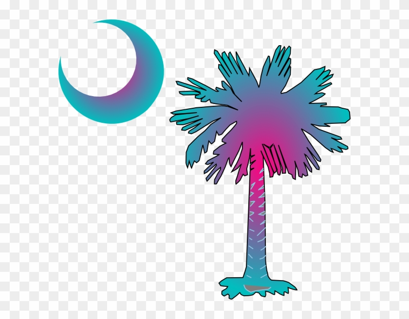 Sc Palmetto Tree Clip Art At Clker - Flag Of South Carolina #2478