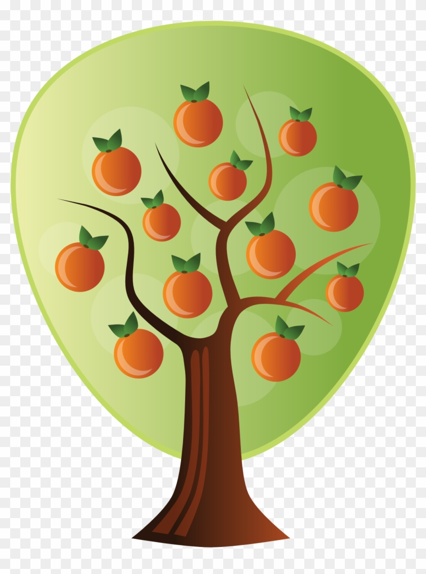 Abstract Crops Orange Tree 1969px 306 - Orange Tree Vector Png #2521