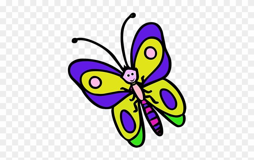 Cute Butterfly Clip Art - Cartoon Drawing Of A Butterfly #2503