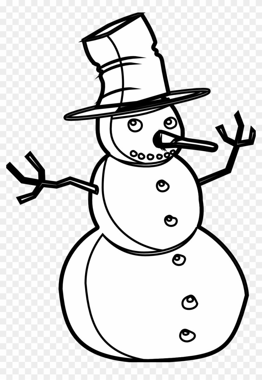 Snowman Black And White Snowman Black And White Snowman - Black And White Snowman Png #2488