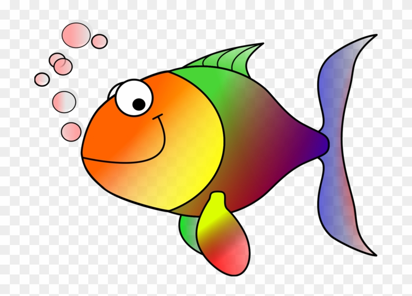 Rainbow Fish Clip Art At Clker Vector Clip Art - Tropical Fish Shower Curtain #2516