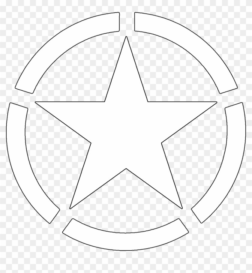 Army Star Vector Clip Art Library - Us Army White Star #2491