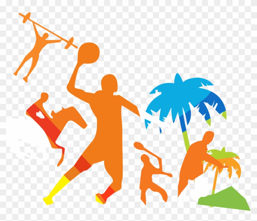 Coconut Tree Silhouette Background Orange Players - Coconut Tree Silhouette Background Orange Players #2543