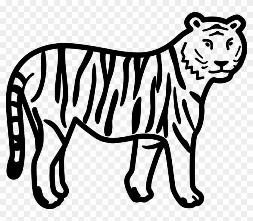 Tiger Black And White Free Tiger Clip Art - Tiger Clipart Black And White #2498