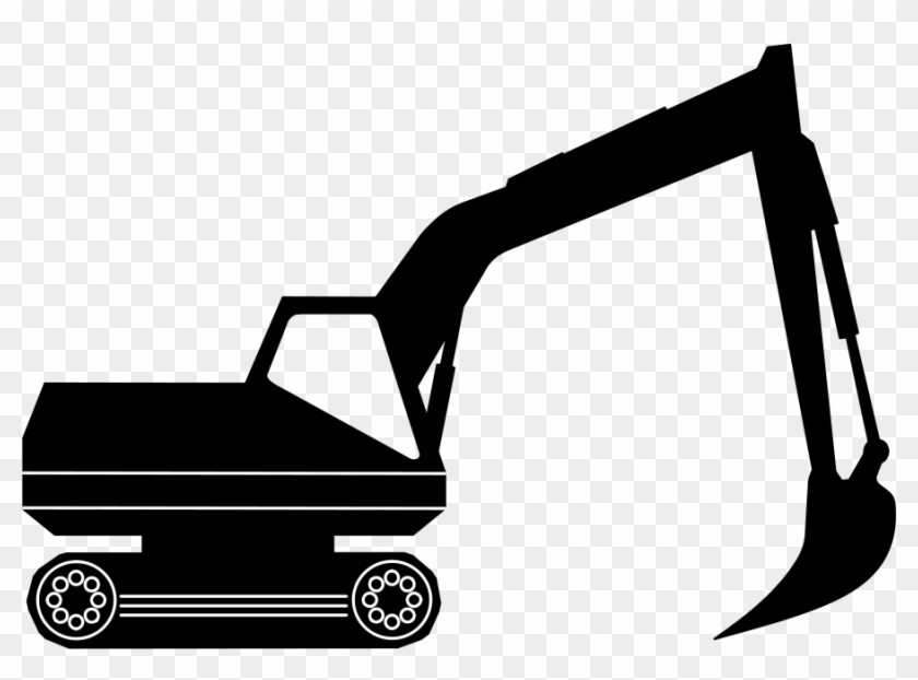 Construction - Equipment - Clipart - Excavator Clipart Black And White #2502
