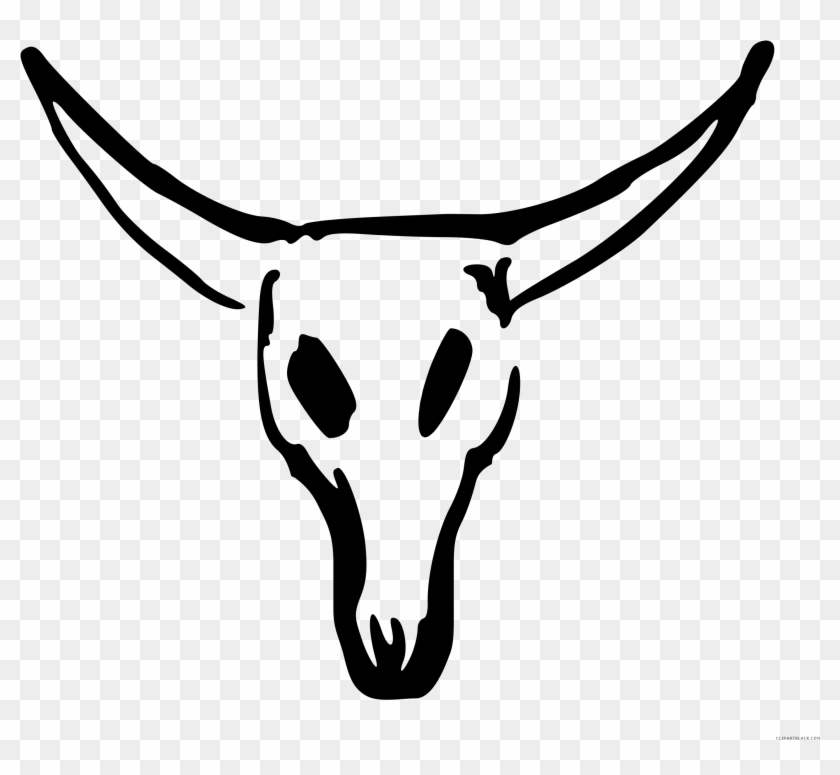 Black And White Cow Pictures - Cow Skull Clipart #2513