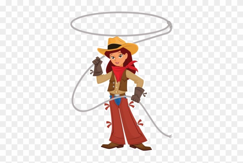 Cowboy Clipart Family - Lasso Clip Art #2547