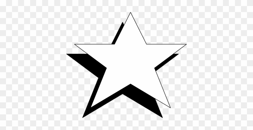 Christmas Star Clip Art Black And White Free - Black And White Star #2554
