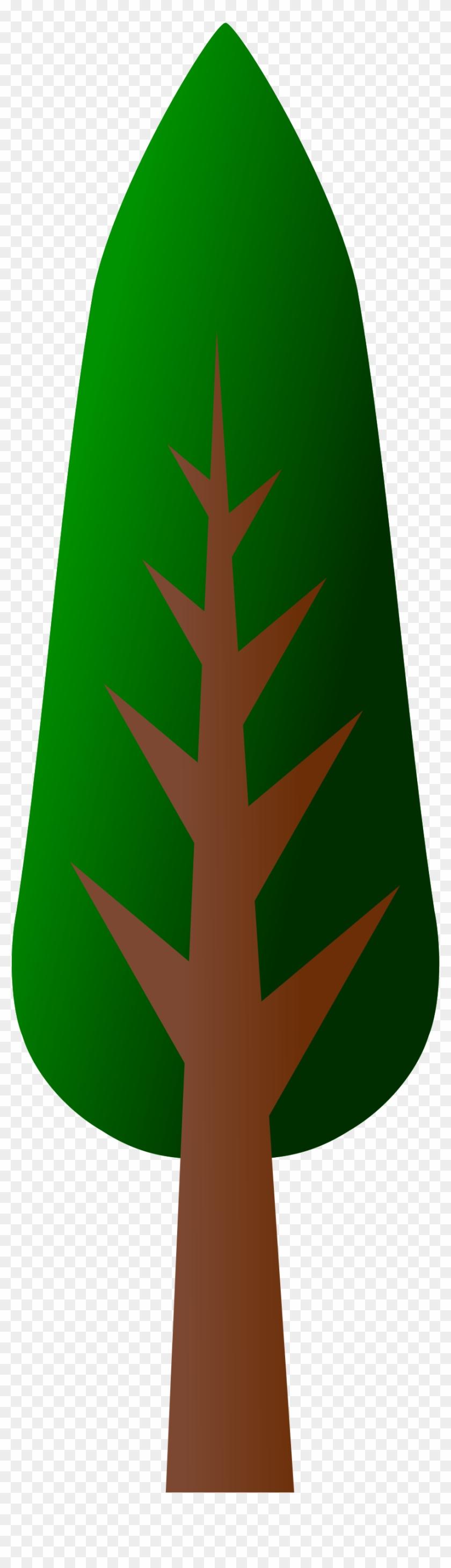 Tree Clip Art Vector Clip Art - Tall Trees Clip Art #2595