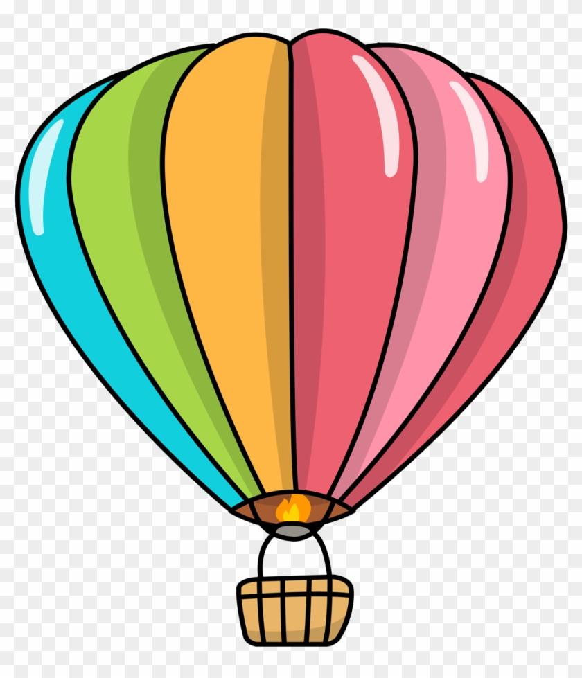 Free Cartoon Hot Air Balloon Clip Art - Hot Air Balloon Cartoon #2626