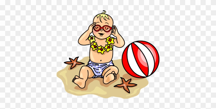 Beach Baby - Baby At Beach Clipart #2639