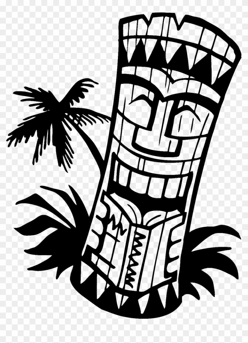 Hawaiian Clip Art Background Free Clipart Images - Tiki Clip Art Black And White #2633