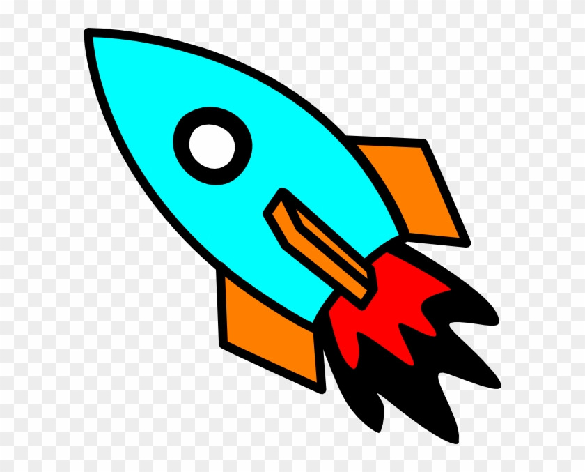 Rocketship Clip Art Image - Animated Rocket #2644