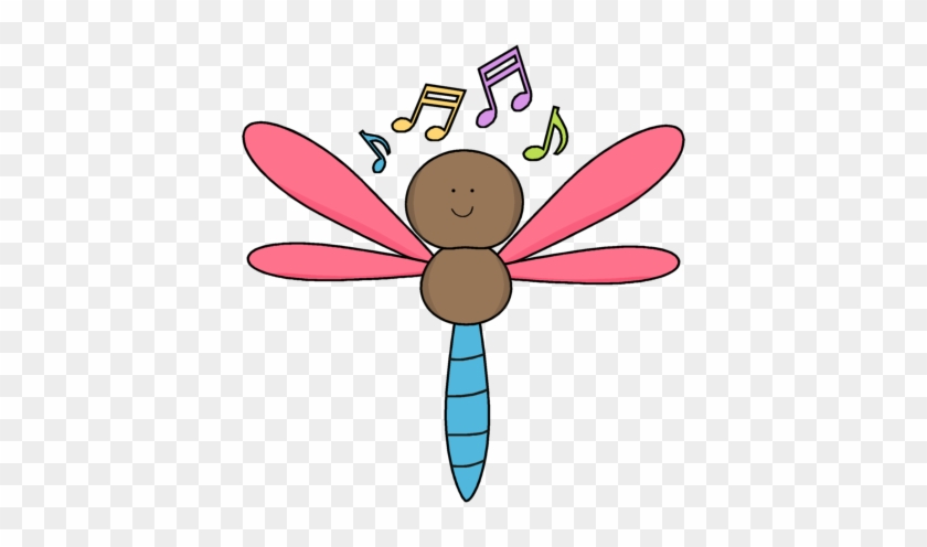 Musical Dragonfly - Cute Musical Notes Png #2659