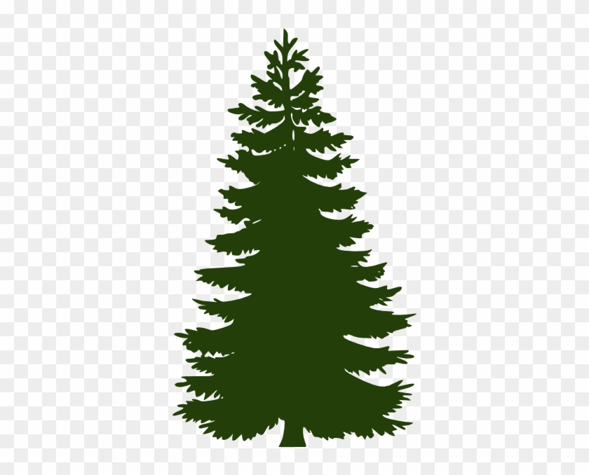 Dark Green Pine Tree Clip Art At Clker - Green Pine Tree Silhouette #2672