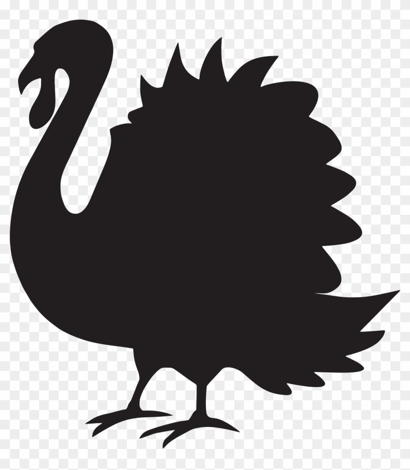 Thanksgiving Turkey Silhouette Vector Illustration - Thanksgiving Turkey Silhouette Vector Illustration #2725