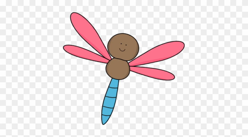Pink And Brown Dragonfly - Cute Dragonfly Clipart #2683
