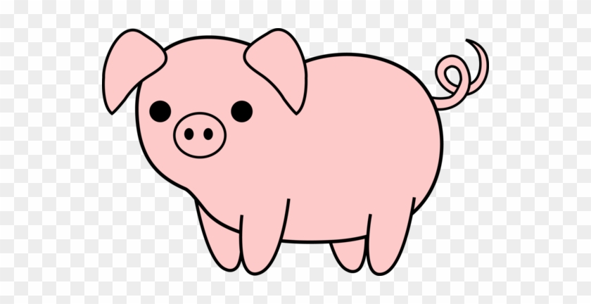 Pig Clipart Farm Animal - Pig Black And White #2718
