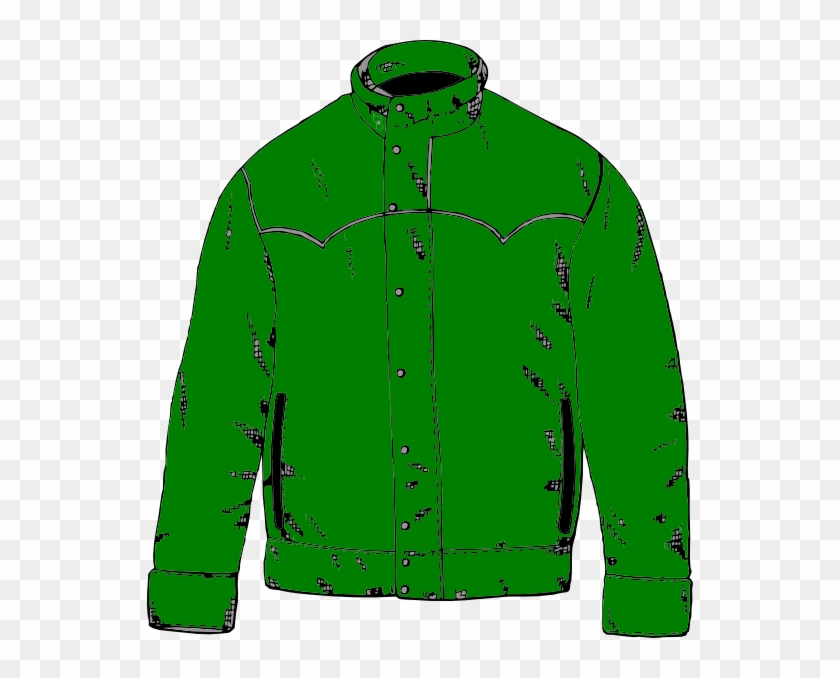 Green Jacket Clip Art - Cartoon Coat #2771