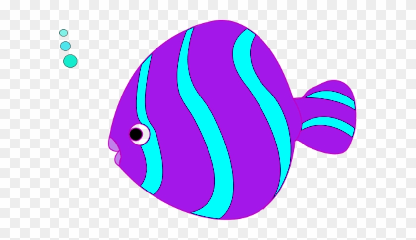Teal Fish Cliparts - Fish Clipart Purple #2750