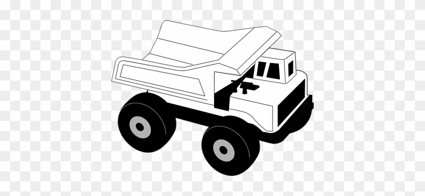 Clipart Info - Construction Truck Clip Art Black And White #2737