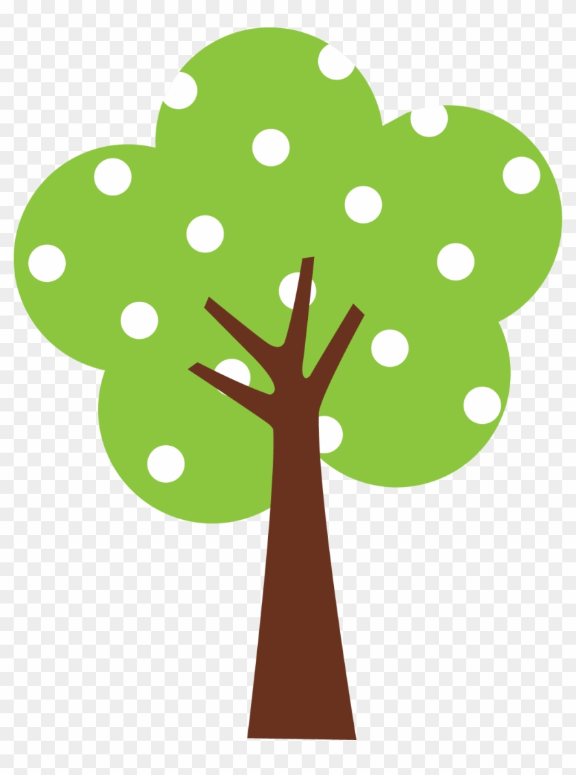 Garden Cliparttree - Polka Dot Tree Clipart #2773