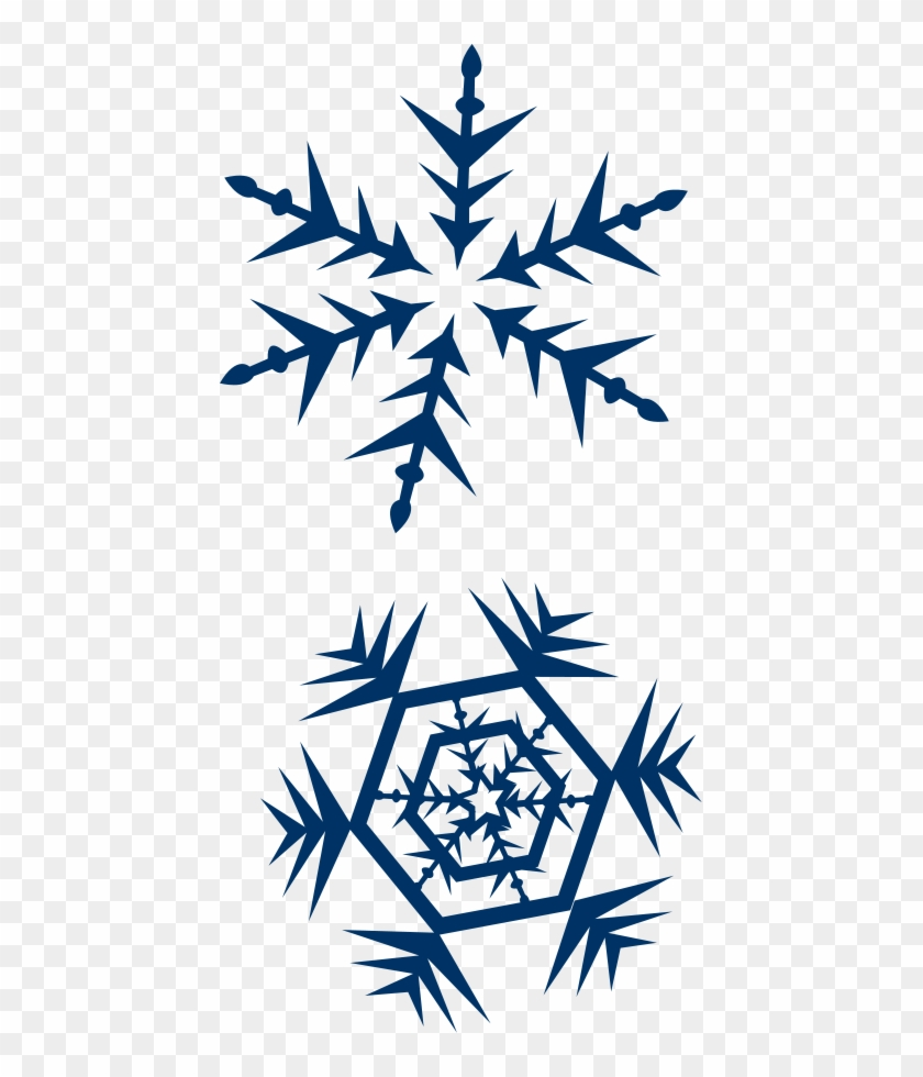Snow Clip Art Images - Navy Blue Snow Flake #2752