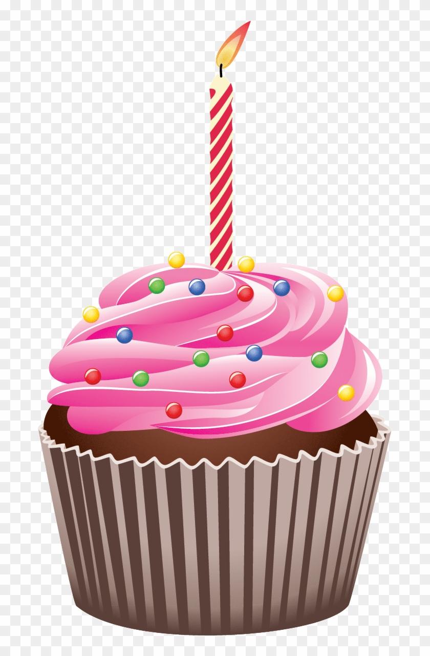 Happy Birthday Cupcake Clipart - Birthday Cupcake Clipart #2772