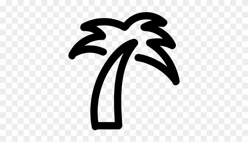 Palm Tree Outline Vector - Palm Tree Outline Png #2763