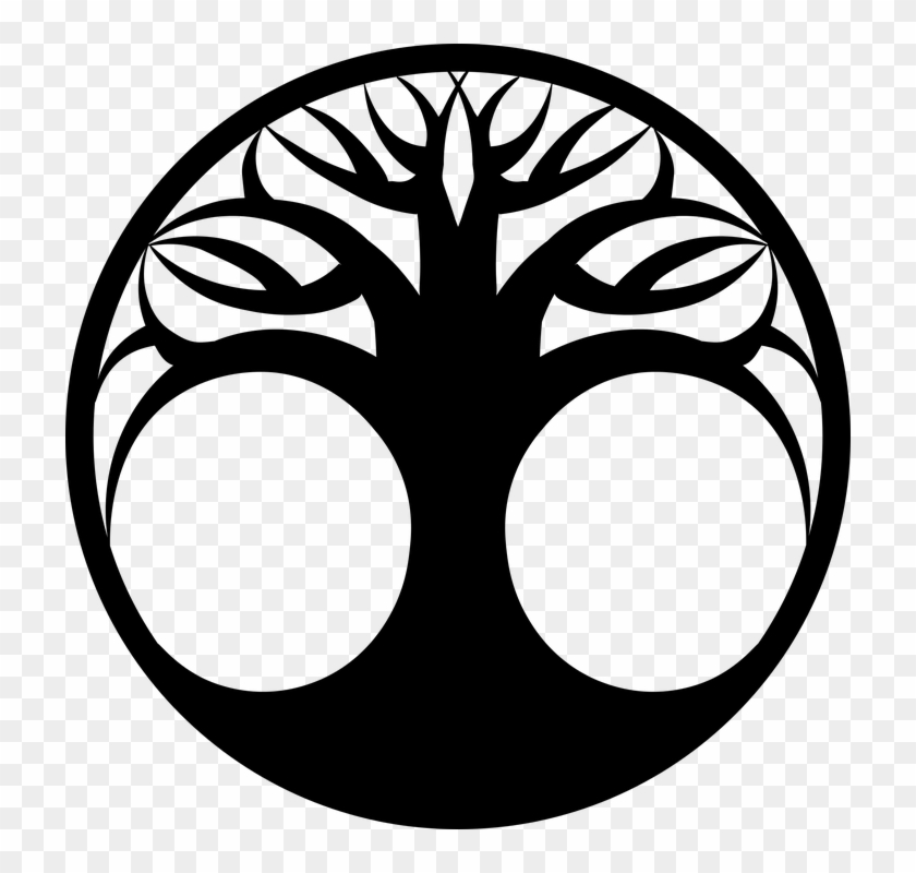 Tree Of Life Silhouette Black White Outline - Tree Of Life Silhouette #2770