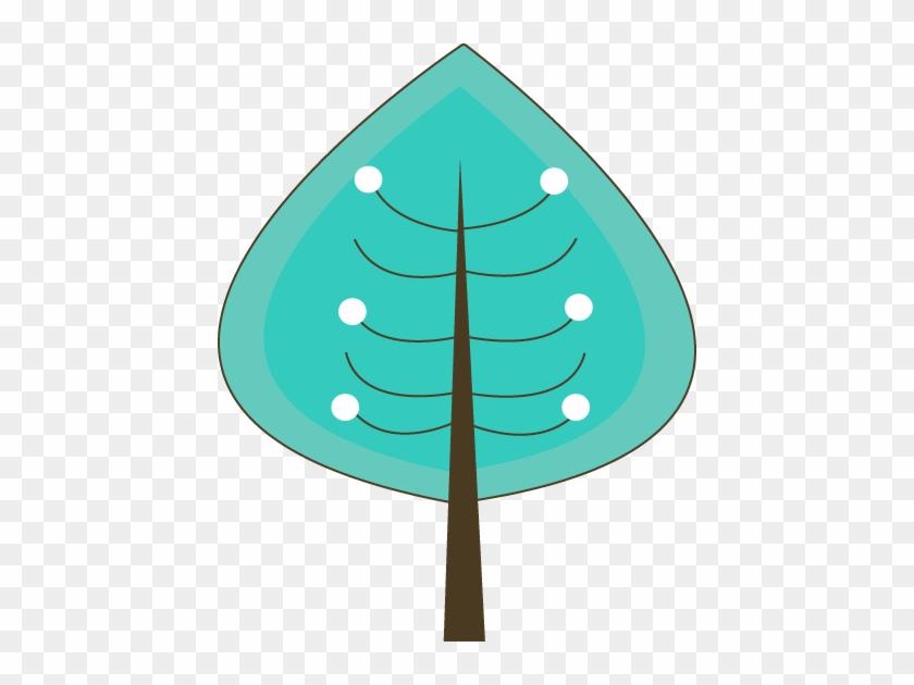 Teal Winter Tree - Teal Winter Tree #290
