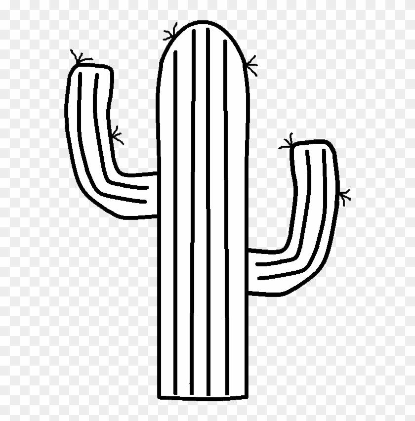 Black Clipart Cactus - Cactus Black And White #2777