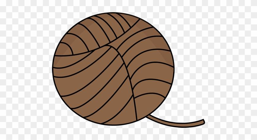 Brown Ball Of Yarn - My Cutegraphics Brown #2831