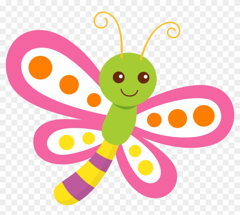 Clip Art, Dragonfly Clipart, Butterfly Template, Insect - Butterflies & Stripes Comfort Mat (personalized) #2835