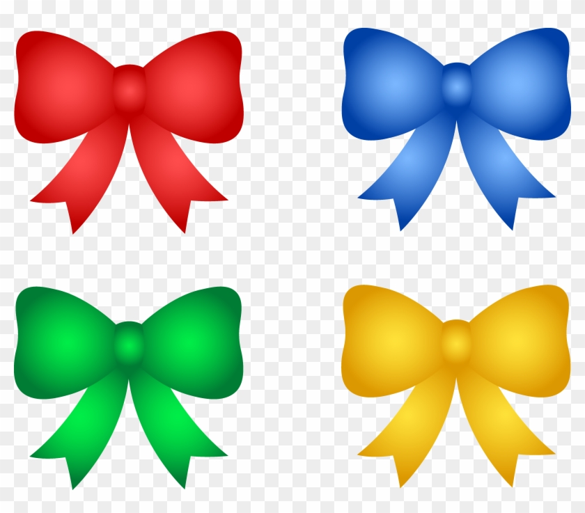 Shiny Christmas Or Birthday Bows - Birthday Bows Clipart #2886