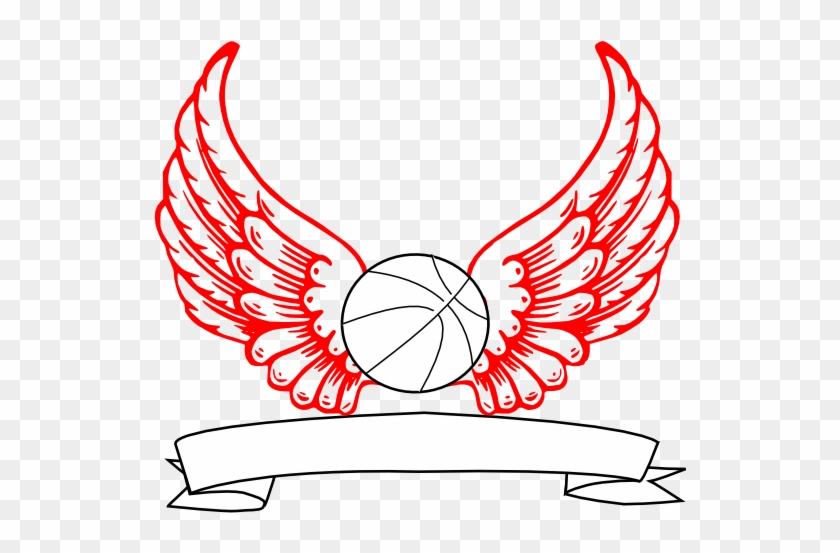 Basketball Angel Wings Clip Art At Clker - Angel Wings #2851