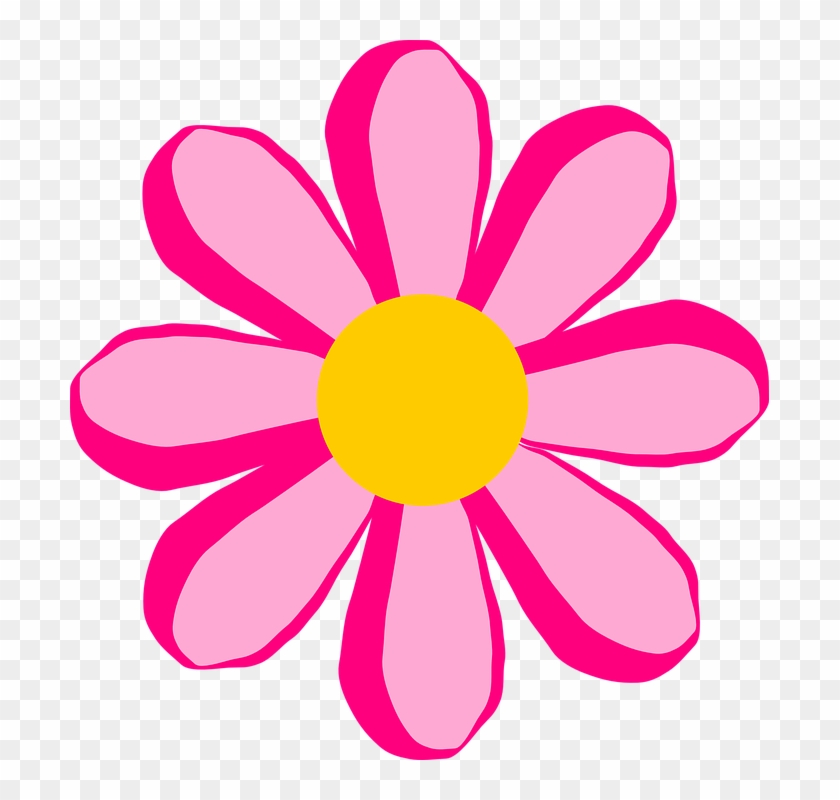 Yellow Flower Clipart Little Flower - Pink Flower Clip Art Free #2903