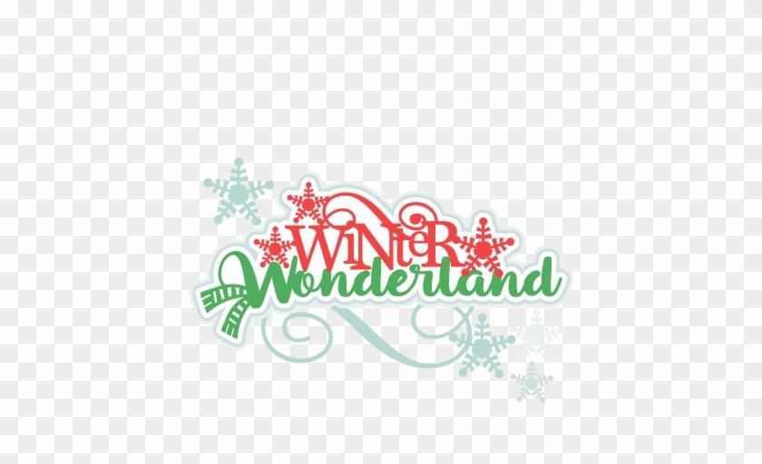 Winter Wonderland Title Svg Scrapbook Cut File Cute - Winter Wonderland Title #2897