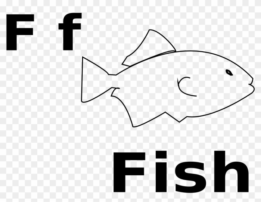 Clown Fish Clip Art Black And White - Letra F En Ingles #2877