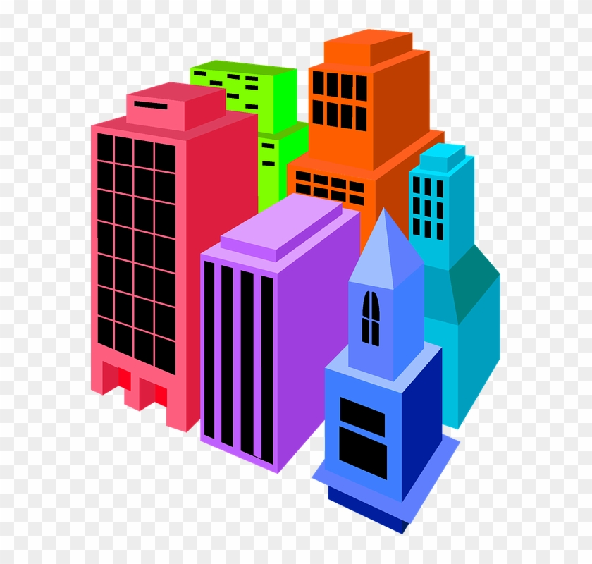 Buildings Clip Art Colorful Isolated Clip Art - E-government In Hongkong #2933