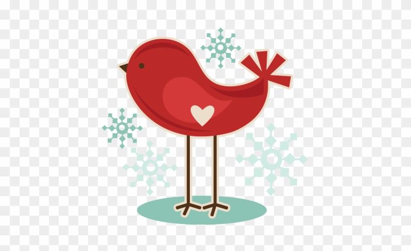 Winter Bird Svg Cutting File Free Svg Cuts Christmas - Christmas Birds Clip Art #2966