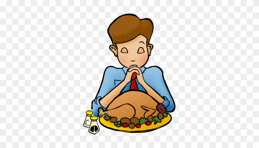 Praying On Thanksgiving Clip Art - Christian Thanksgiving Clip Art #2987