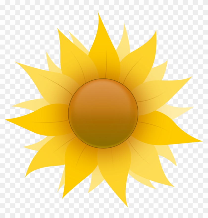 Free - Sunflower - Clipart - Clip Art Sun Flower Lady #2994